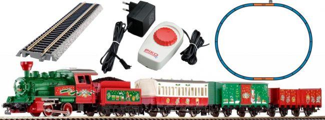 PIKO 57081 Start-Set Weihnachtszug mit Dampflok   DC analog   Spur H0