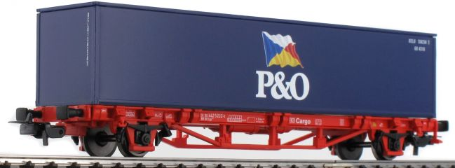 PIKO 57706 Containerwagen P&O DB Spur H0