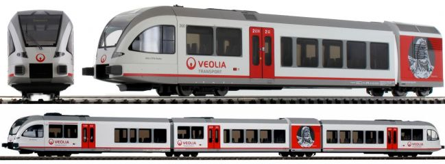 PIKO 59532 Dieseltriebwagen Stadler GTW 2/8 Veolia | DC analog | Spur H0