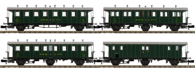 PIKO 94344 Personenwagen-Set 4-tlg. SBB | Spur N