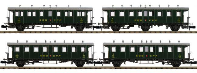 PIKO 94345 Personenwagen-Set 4-tlg. SBB | Spur N