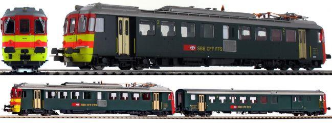 PIKO 96832 2-tlg. Set Triebwagen + Steuerwagen RBe 4/4 Seetal | DC analog | Spur H0