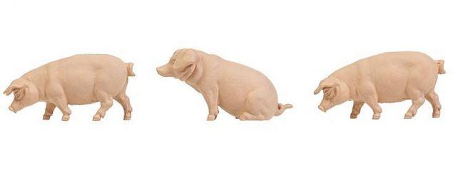 POLA 331895 Schweine   3 Stück Miniaturfiguren   Spur G  