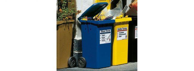 POLA 333206 Mülltonnen blau | 2 Stück | Bausatz Spur G