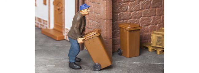 POLA 333223 Mülltonnen 2 Stück braun Bausatz 1:22,5
