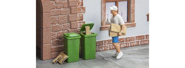 POLA 333224  Mülltonnen grün 2 Stück Bausatz 1:22,5