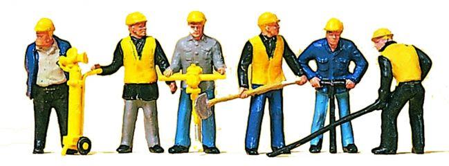 Preiser 10035 Gleisbautrupp bei der Arbeit | 6 Miniaturfiguren Spur H0