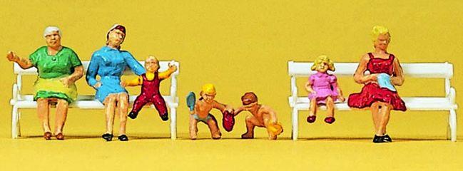 Preiser 10051 Mü�tter und Kinder | 7 sitzende Figuren | ohne Bänke | Spur H0