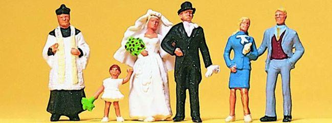 Preiser 10058 Brautpaar und katholischer Geistlicher | 6 Miniaturfiguren Spur H0