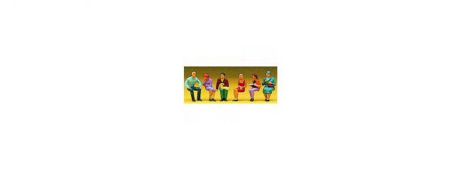 Preiser 10095 Sitzende Personen | 6 Miniaturfiguren Spur H0