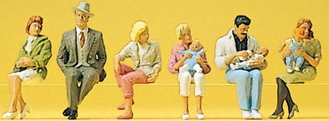 Preiser 10332 Sitzende Personen | 6 Miniaturfiguren Spur H0