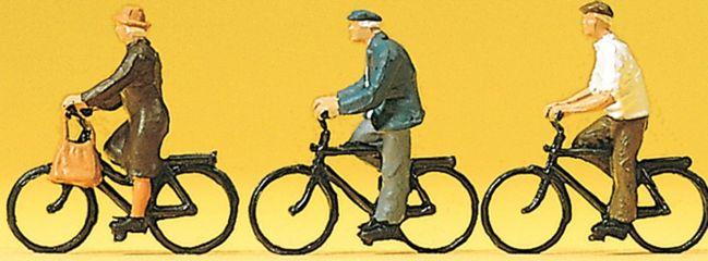 Preiser 10333 Radfahrer | Fahrräder und 3 Miniaturfiguren Spur H0