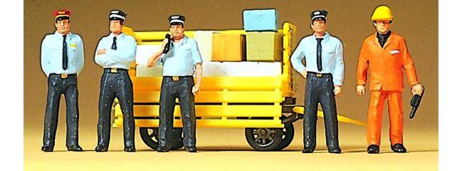 Preiser 10372 Rhätisches Bahnpersonal 5 Figuren mit Zubehör Fertigmodell 1:87