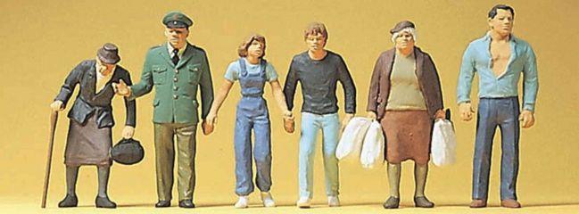 Preiser 10378 Passanten und Polizist   6 Miniaturfiguren Spur H0