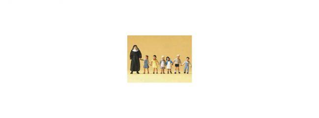 Preiser 10401 Nonne mit Kindern | 7 Miniaturfiguren | Spur H0