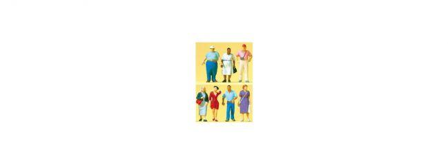 Preiser 10548 Passanten | 7 Miniaturfiguren Spur H0