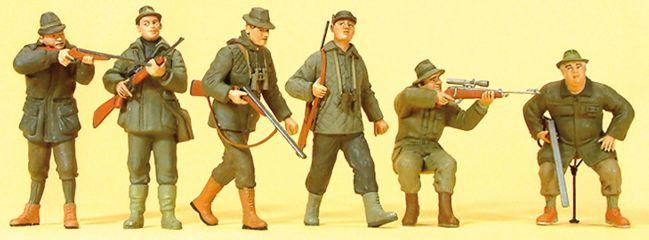 Preiser 10552 Jäger mit Gewehren | 6 Figuren | Spur H0