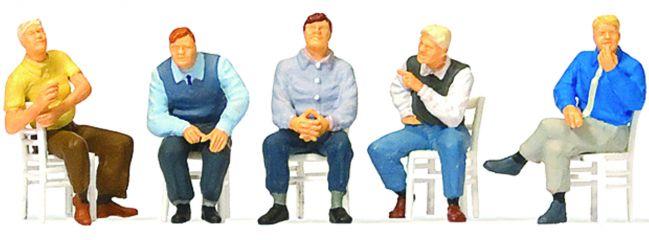 Preiser 10579 Sitzende Männer Figuren Spur H0