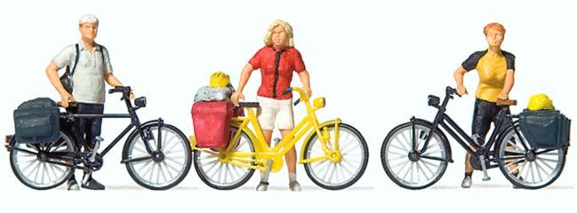 Preiser 10643 Radfahrer in sportlicher Kleidung (1) Figuren Spur H0