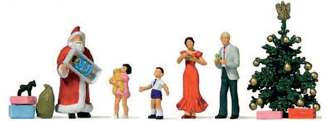 Preiser 10652 Frohe Weihnachten   festliche Miniaturfiguren Spur H0