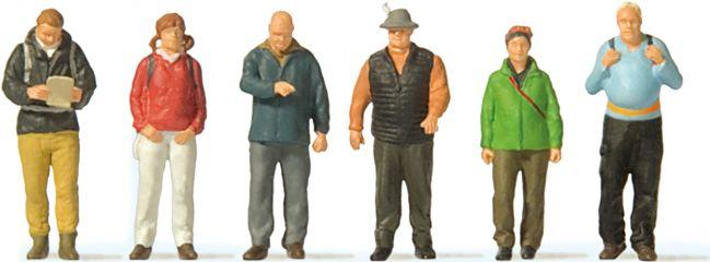 Preiser 10699 Wanderer | 6 Miniaturfiguren | Spur H0