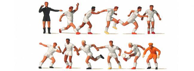 Preiser 10762 Fussballmannschaft mit weisse Trikot 12 Figuren Fertigmodell 1:87
