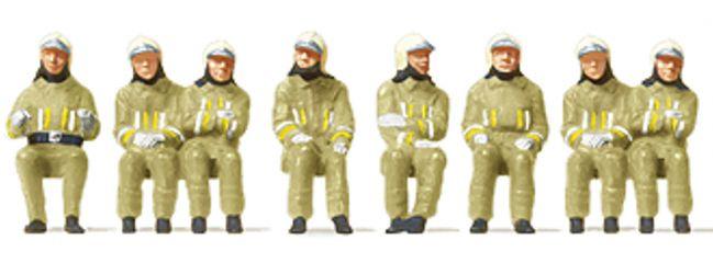 Preiser 10769 Feuerwehrmänner in moderner Einsatzkleidung | 8 Stück | Figuren Spur H0