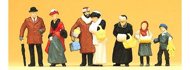 Preiser 12195 Auf dem Weihnachtsmarkt um 1900 Figuren Spur H0