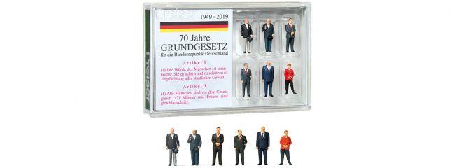Preiser 13400 70 Jahre Grundgesetz der Bundesrepublik Deutschland | 6 Stück | Figuren Spur H0