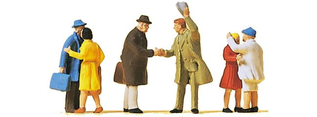 Preiser 14028 Begrüßungsszenen | 6 Miniaturfiguren | Spur H0