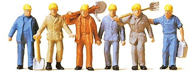 Preiser 14033 Gleisbauarbeiter   Figuren Spur H0