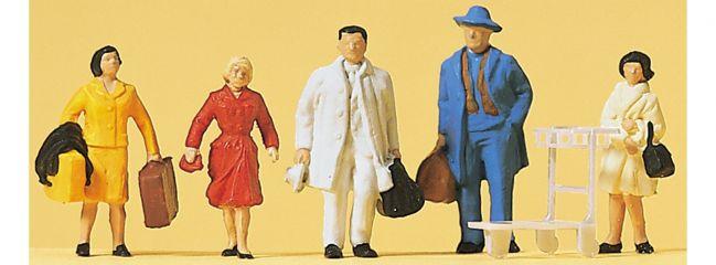 Preiser 14104 Reisende | 5 Stück | Figuren Spur H0