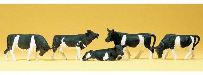 Preiser 14155 Kühe gefleckt | Miniaturfiguren Spur H0