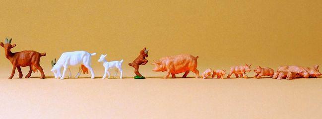 Preiser 14162 Ziegen und Schweine Spur H0