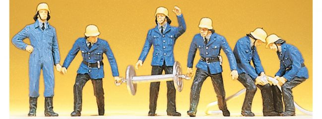 Preiser 14204  Feuerwehrmänner | 6 Stück | Figuren Spur H0