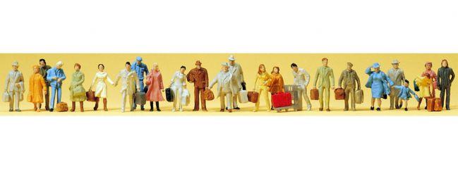 Preiser 14401 Stehende und gehende Reisende | 24 Stück | Figuren Spur H0