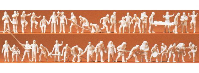Preiser 16329 Feuerwehr Figuren unbemalt   Figuren Spur H0