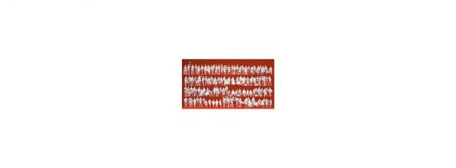 Preiser 16352 Am Bahnhof   120 unbemalte Miniaturfiguren   Spur H0