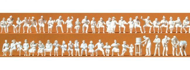 Preiser 16356 Im Biergarten 47 unbemalte Figuren Bausatz  1:87