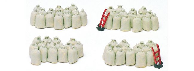 Preiser 17102 Säcke 60 Stück unbemalt Bausatz 1:87