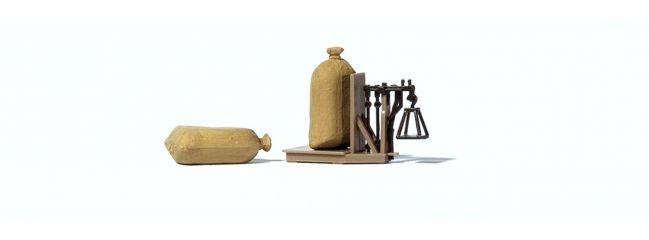 Preiser 17713 Getreidewaage mit zwei Säcken Fertigmodell 1:87