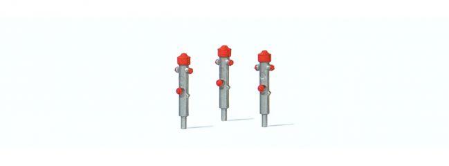 Preiser 17715 Hydrant silber drei Stück Fertigmodell 1:87