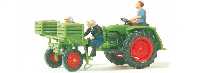 Preiser 17935 Geräteträger mit Kartoffellegemaschine | Landwirtschaftsmodell 1:87