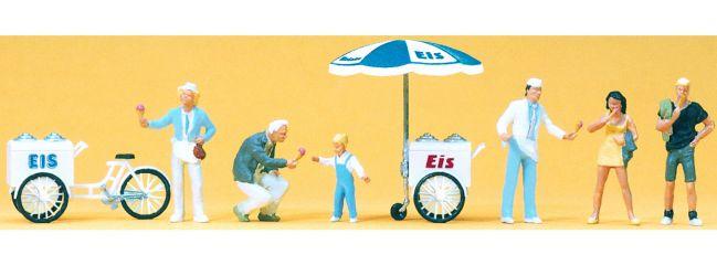 Preiser 24661 Eisverkauf | 6 Stück | Miniaturfiguren Spur H0