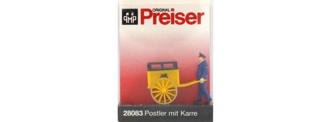 Preiser 28083 Postmann mit Karre Figur Spur H0