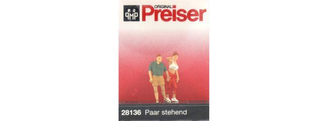 Preiser 28136 Paar stehend Figuren Spur H0