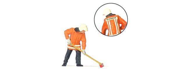 Preiser 28198 Feuerwehrmann kehrend | Spur H0
