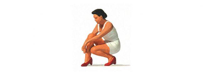 Preiser 28228 Frau Schuhe anziehend Einzelfigur Fertigmodell 1:87