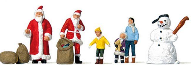 Preiser 79226 Weihnachtsmänner   Schneemann   Kinder   Miniaturfiguren 1:160
