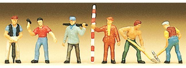 Preiser 88514 Arbeiter Figuren   6 Stück    Spur Z